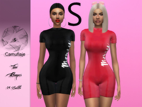 Sims 4 Tini Romper by Camuflaje at TSR