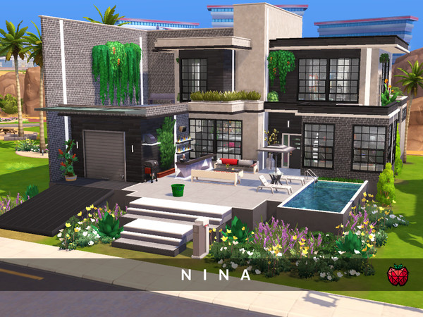 Nina contemporary 2 bedroom house by melapples at TSR image 2325 Sims 4 Updates