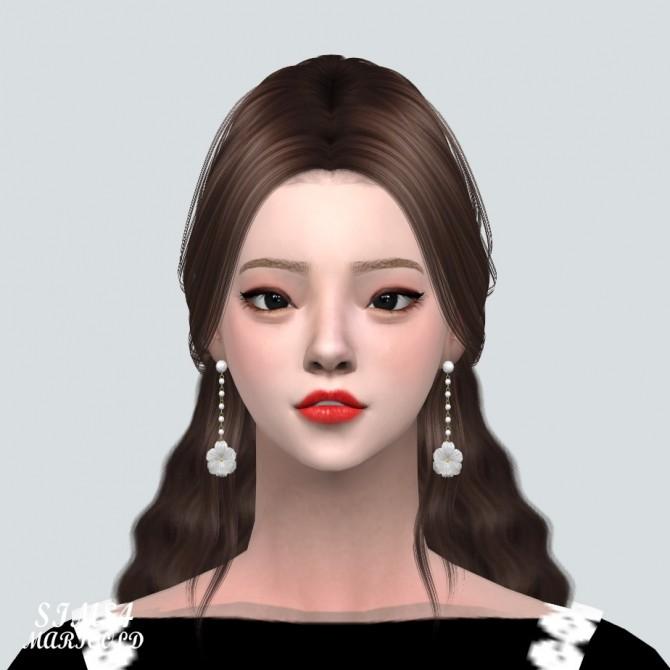 Sims 4 Elegance 1 Flower Pearl Earring V2 at Marigold
