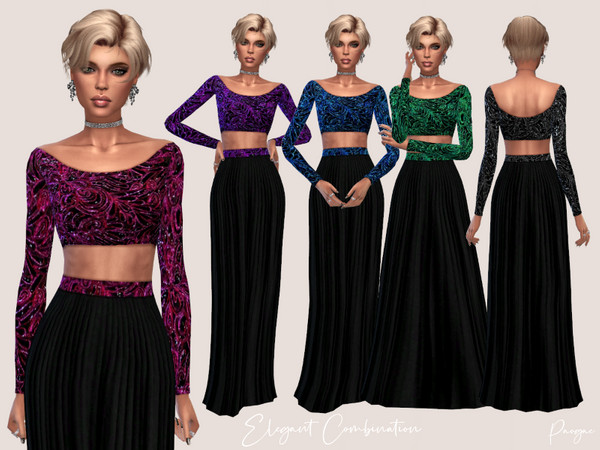 Sims 4 Elegant Combination Matching outfit by Paogae at TSR