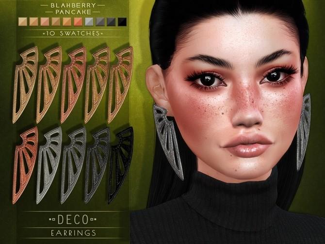 Sims 4 Deco earrings at Blahberry Pancake