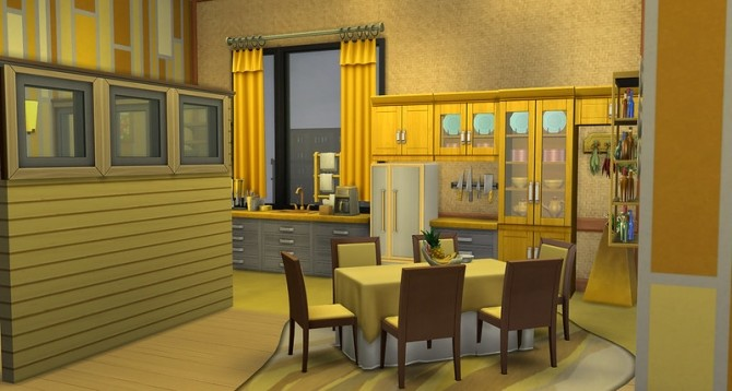 Sims 4 All Yellow studio by ihelen at ihelensims