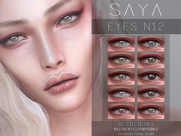 Sims 4 Eyes N12 by SayaSims at TSR
