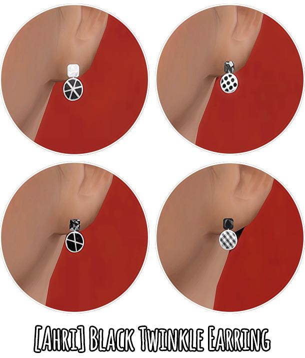 Black Twinkle Earrings at Ahri Sim4 image 2355 Sims 4 Updates