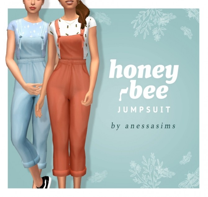 Sims 4 Honey bee jumpsuit at Anessa Sims