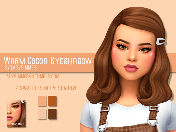 Sims 4 Warm Cocoa Eyeshadow by LadySimmer94 at TSR