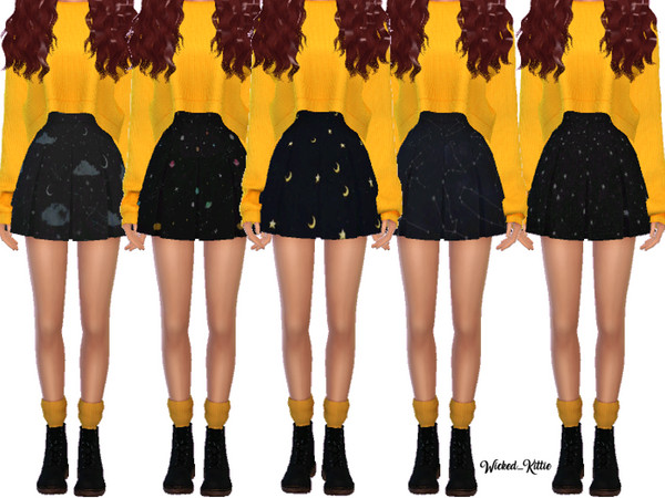 Snazzy Pleated Skirts by Wicked Kittie at TSR image 2419 Sims 4 Updates