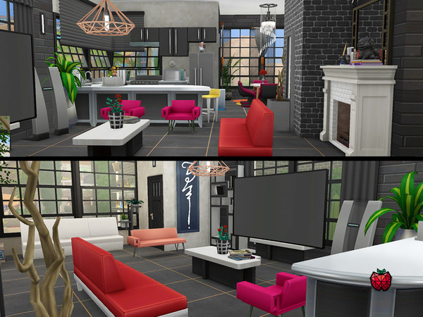 Nina contemporary 2 bedroom house by melapples at TSR image 2425 Sims 4 Updates