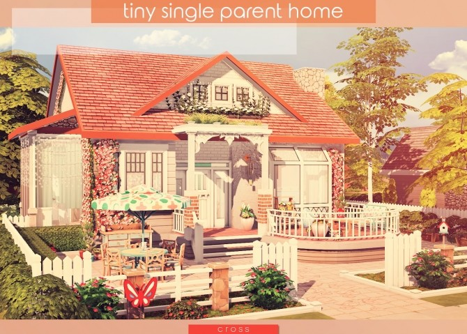 Tiny Single Parent Home by Praline at Cross Design image 2444 670x479 Sims 4 Updates
