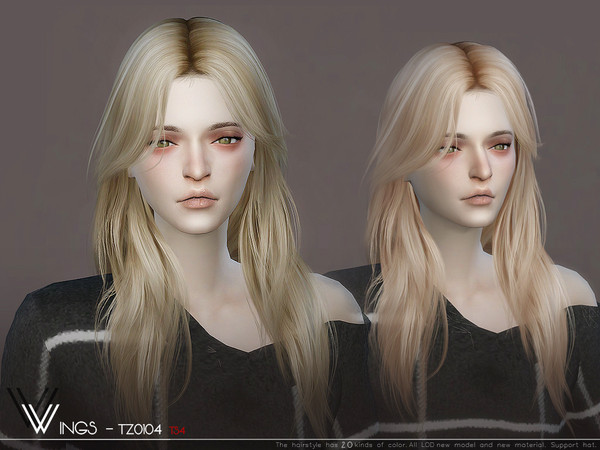 WINGS TZ0104 hair by wingssims at TSR image 245 Sims 4 Updates