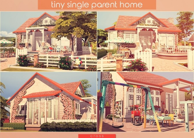 Tiny Single Parent Home by Praline at Cross Design image 2454 670x479 Sims 4 Updates