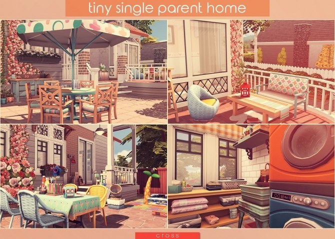 Tiny Single Parent Home by Praline at Cross Design image 2464 670x479 Sims 4 Updates