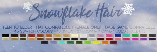 Sims 4 SNOWFLAKE HAIR at Candy Sims 4