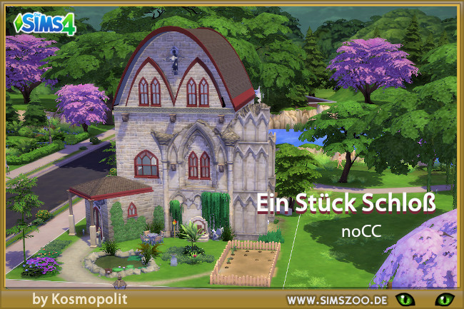 Small castle by Kosmopolit at Blacky's Sims Zoo image 2503 Sims 4 Updates
