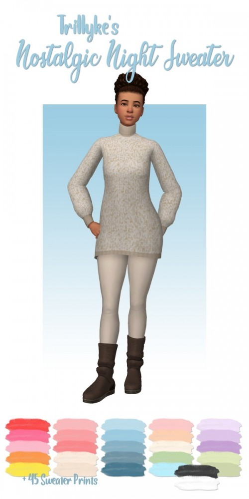 Sims 4 Trillykes nostalgic night sweater recolors at Deeliteful Simmer