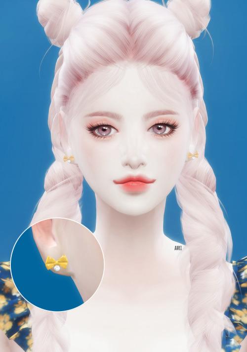 Ribbon Earrings at Ahri Sim4 image 25111 Sims 4 Updates
