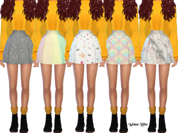Snazzy Pleated Skirts by Wicked Kittie at TSR image 2518 Sims 4 Updates