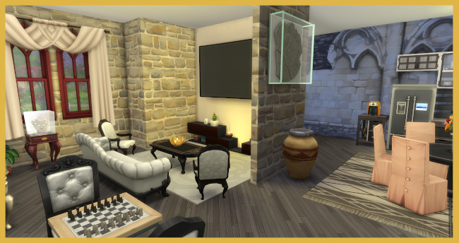 Sims 4 Small castle by Kosmopolit at Blacky's Sims Zoo