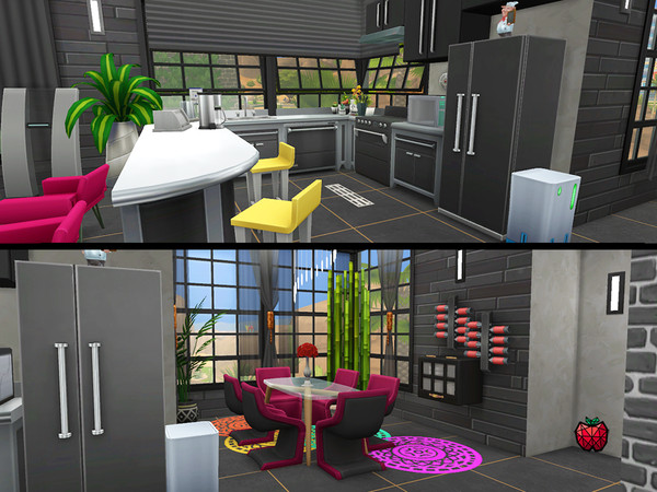 Sims 4 Nina contemporary 2 bedroom house by melapples at TSR