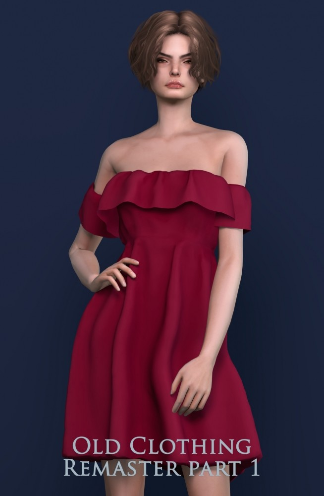 Sims 4 Old Clothing & Accessories Remaster part 1 at Astya96
