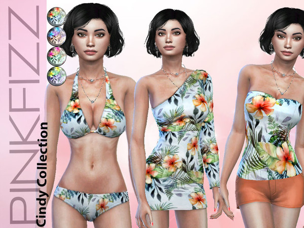 Sims 4 Cindy Collection by Pinkfizzzzz at TSR