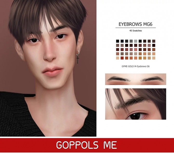 GPME GOLD M Eyebrows G6 at GOPPOLS Me image 2571 670x592 Sims 4 Updates