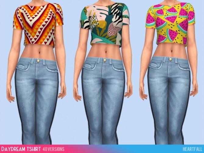 Daydream t shirt recolors at Heartfall image 2572 670x503 Sims 4 Updates