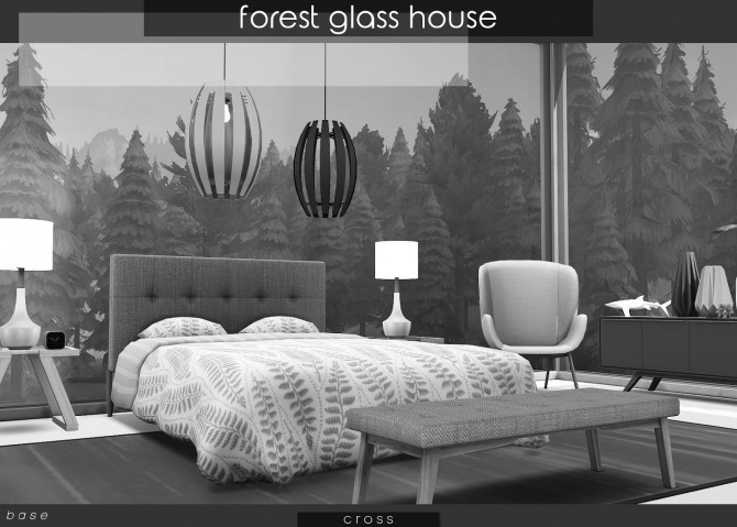 Sims 4 Forest Glass House at Cross Design