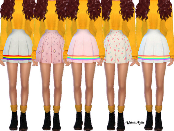 Snazzy Pleated Skirts by Wicked Kittie at TSR image 2617 Sims 4 Updates