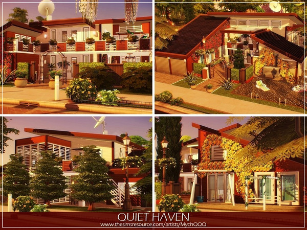 Quiet Haven house by MychQQQ at TSR image 2629 Sims 4 Updates