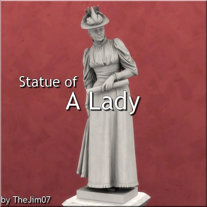 Sims 4 Statue of A Lady by Bissen by TheJim07 at Mod The Sims