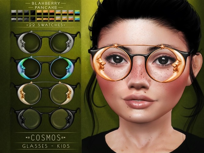 Cosmos & Honey glasses for kids at Blahberry Pancake image 2644 670x503 Sims 4 Updates
