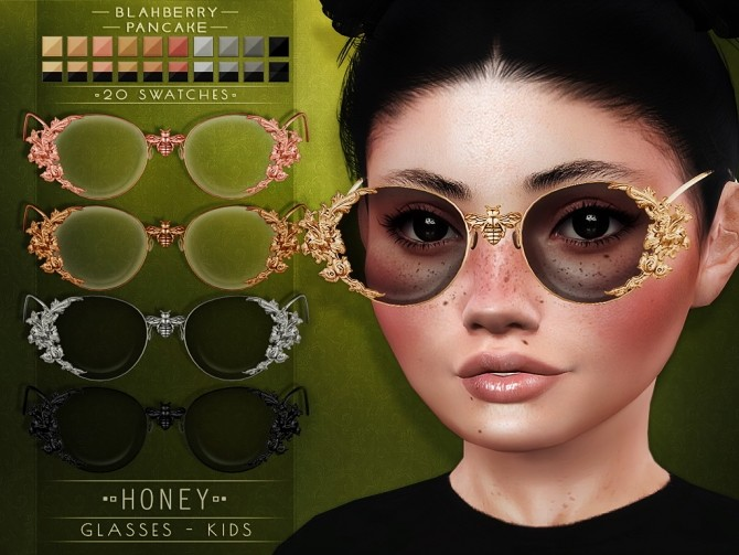 Cosmos & Honey glasses for kids at Blahberry Pancake image 2654 670x503 Sims 4 Updates