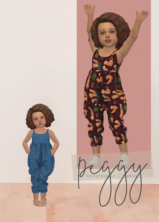 Sims 4 Peggy Jumpsuit V2 at Daisy Pixels