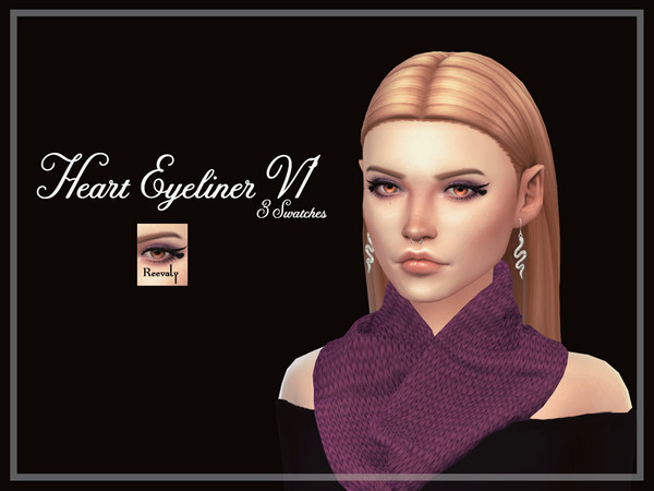 Heart Eyeliner V1 by Reevaly at TSR image 2718 Sims 4 Updates