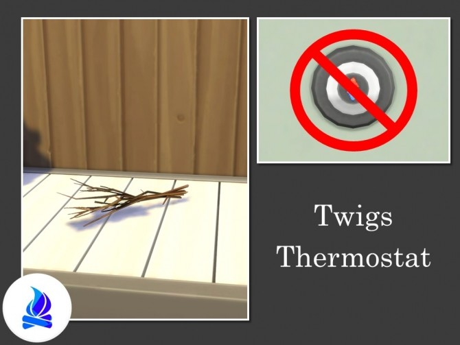 Sims 4 Twigs Thermostat by Teknikah at Mod The Sims