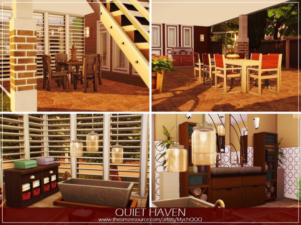 Quiet Haven house by MychQQQ at TSR image 2730 Sims 4 Updates