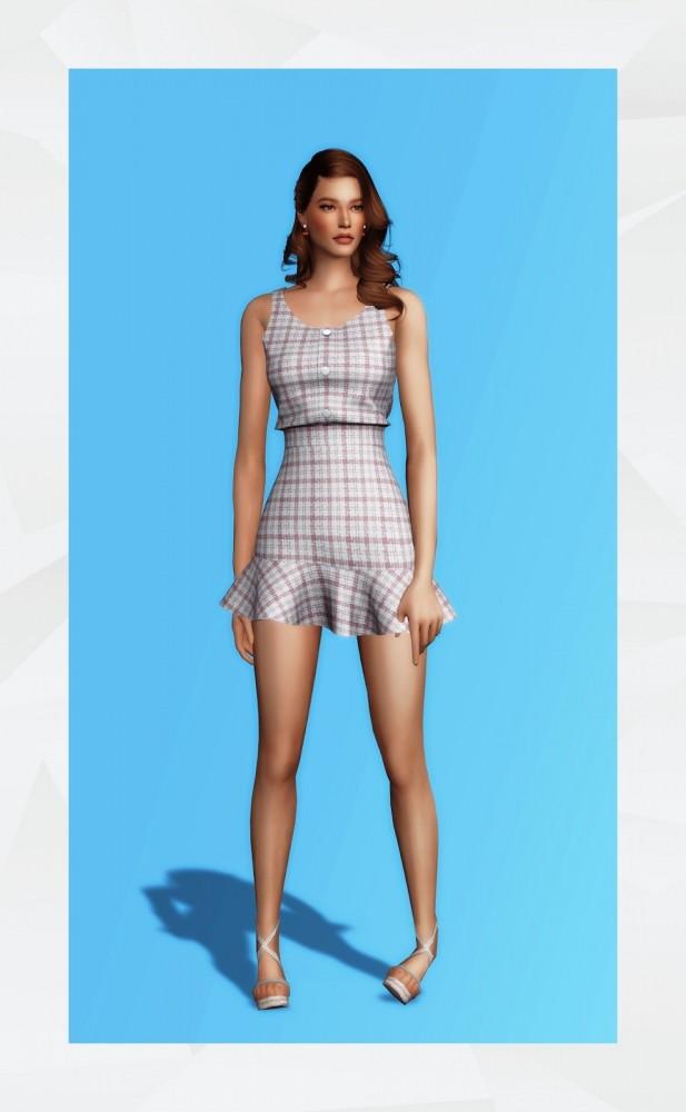 Sims 4 Dona Dress at Gorilla