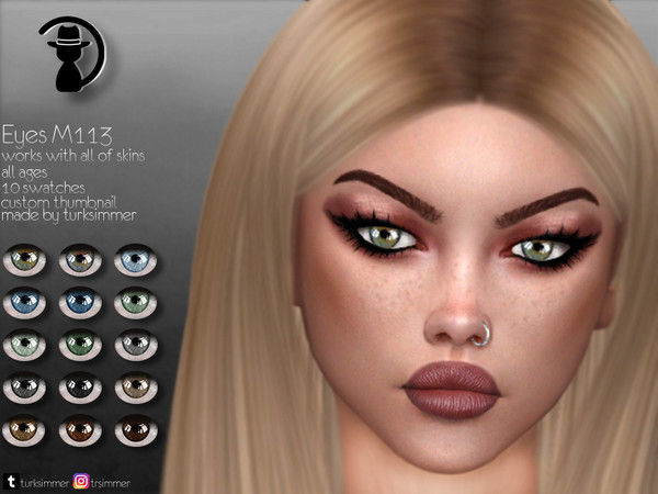 Sims 4 Eyes M113 by turksimmer at TSR
