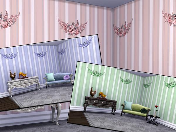 Sims 4 MB Opulent Wallwear Grace SET by matomibotaki at TSR