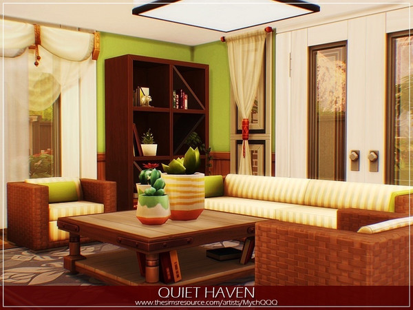 Quiet Haven house by MychQQQ at TSR image 2828 Sims 4 Updates