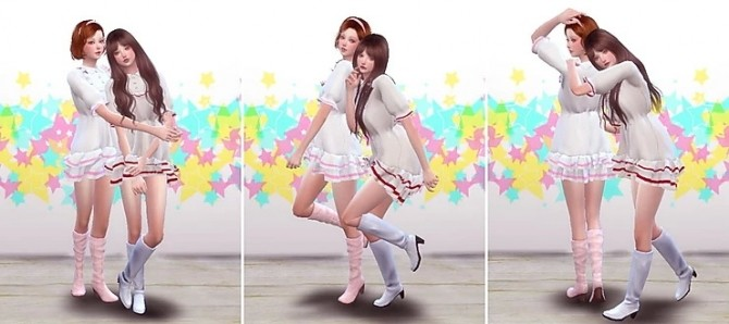 Sims 4 Twins Pose 03 at A luckyday