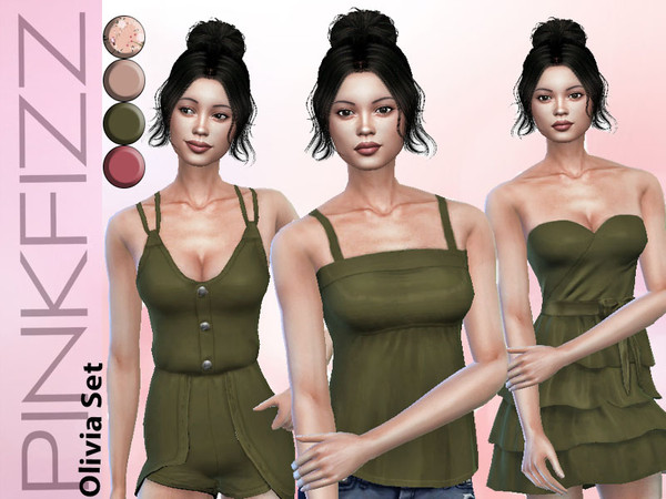 Sims 4 Olivia Set by Pinkfizzzzz at TSR