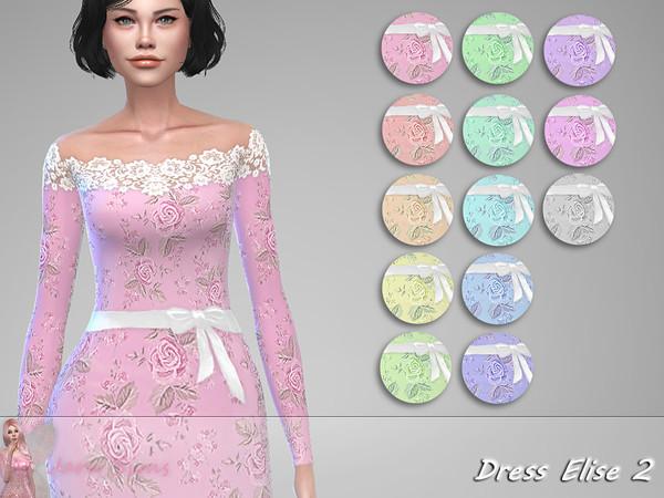 Sims 4 Dress Elise 2 by Jaru Sims at TSR