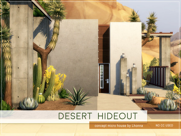 Desert Hideout Microhouse by Lhonna at TSR image 2927 Sims 4 Updates