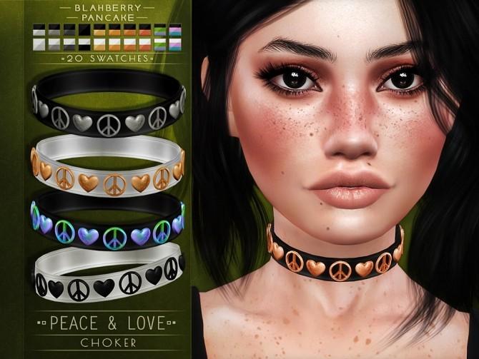 Sims 4 Peace & love choker at Blahberry Pancake