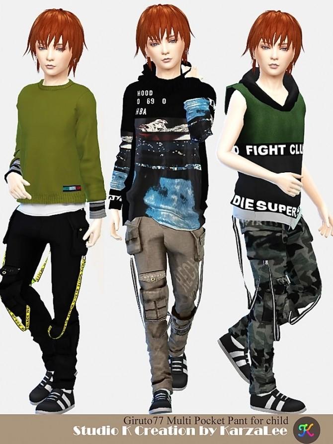 Multi Pocket Pant for child at Studio K Creation image 3042 670x894 Sims 4 Updates