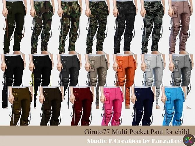 Sims 4 Multi Pocket Pant for child at Studio K Creation