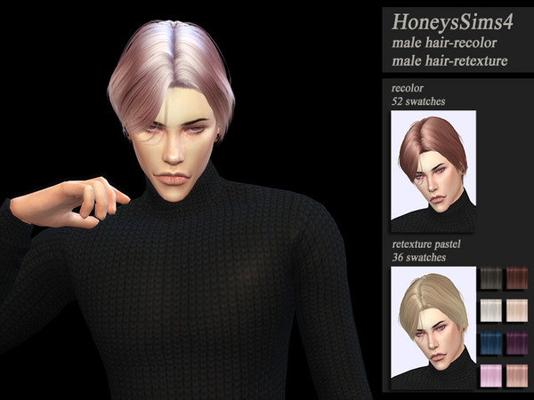 Sims 4 Male hair recolor retexture Musae Disco by HoneysSims4 at TSR