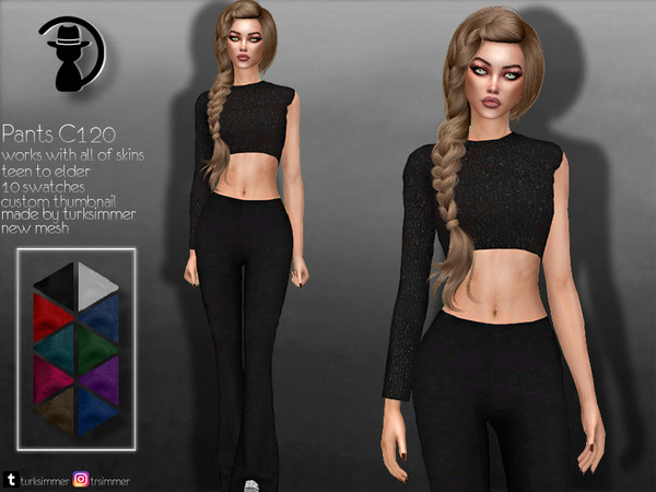 Sims 4 Pants C120 by turksimmer at TSR